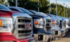 2014 GMC Sierra Trucks On Dealer Lot,GMTruckSales01.jpg