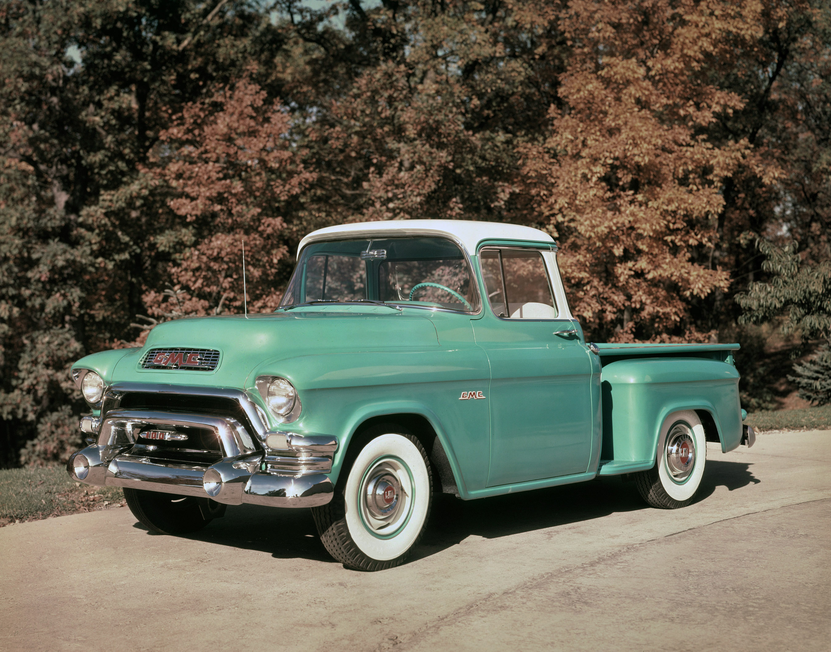 Gmc Pressroom United States Images 1955 Ford F100 Pick Up St Louis