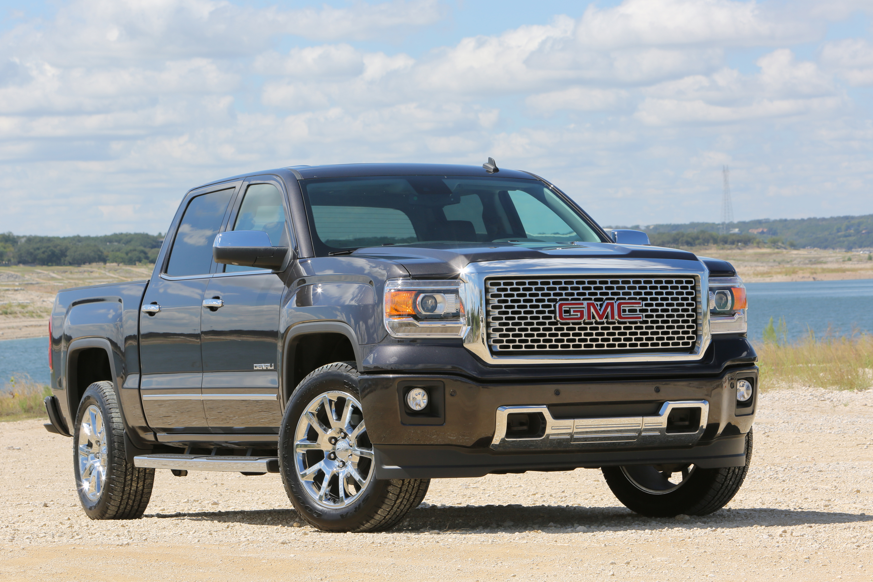 any threequarter denali is luxury story hp most studio standard money pickup gmc sierra cars front of